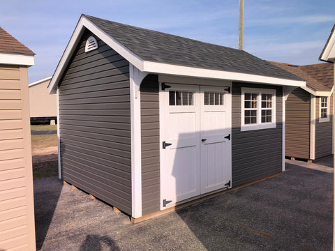 10x14 Vinyl Carriage House w/ Deluxe
