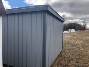 12x12 Painted Hip Barn w/ Deluxe