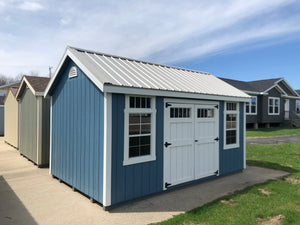 10x16 Painted Cape Cod w/ Deluxe & Steel Roof