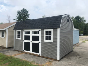 12x16 Vinyl Dutch Barn w/ DLX