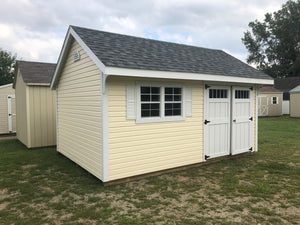 12x16 Vinyl Carriage House w/ Deluxe