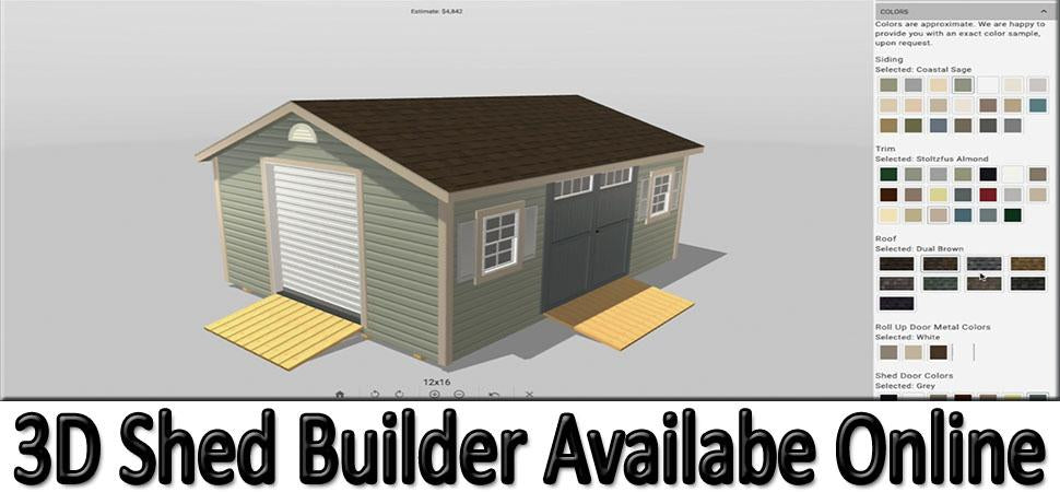 3D Shed Designer Available Online