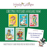 Variety pack of Christmas postcards