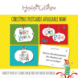 Happy Holidays Christmas postcards