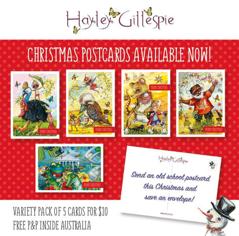 Christmas in Australia postcards