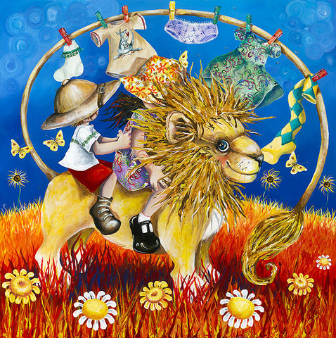 Hayley Gillespie - Washing Lion - Limited Edition of 99 - various sizes