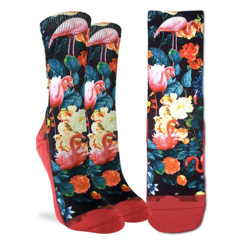 Women's Floral Flamingos Socks