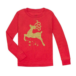 Reindeer Long Sleeve Shirt- Red