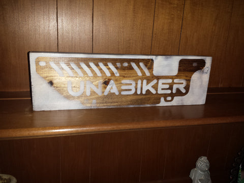 Unabiker sign by Charlie Williams