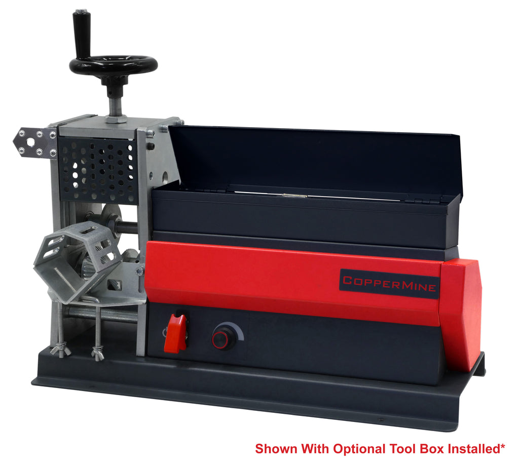 Powered Tabletop Wire Stripping Machine Strips up to 2 1/4""