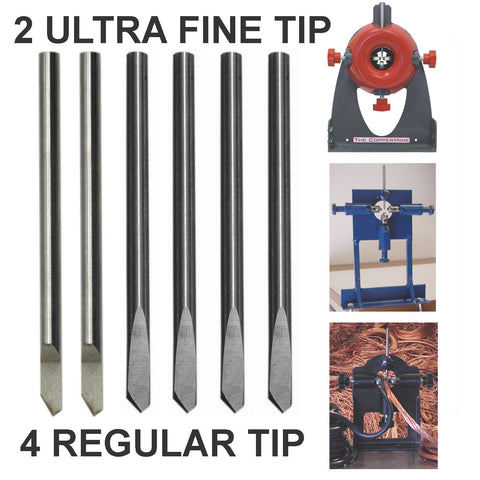 4 Regular + 2 Ultra Fine Tip Replacement Blades for Model 210