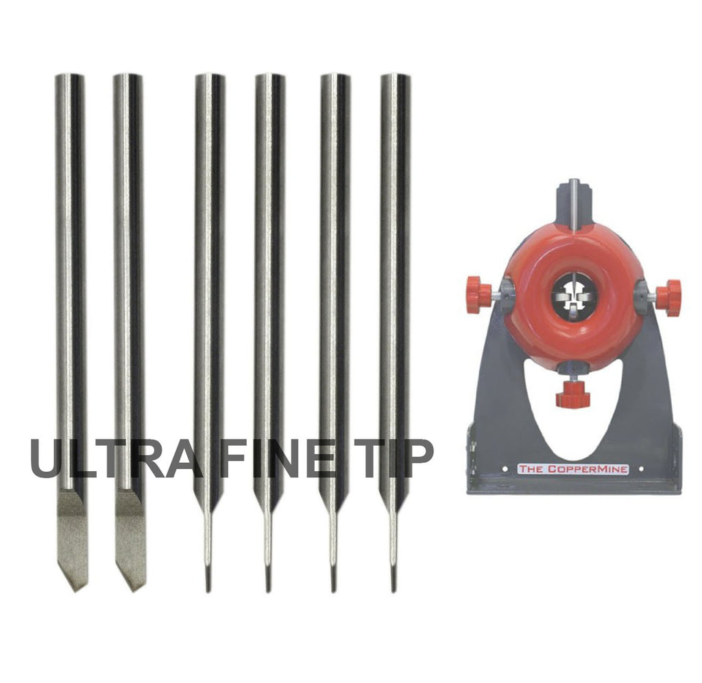 6 Ultra Fine Tip Replacement Blades For CopperMine Model 210