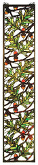 31267 Acorn & Oak Leaf Stained Glass Window by Meyda Lighting | 9x42 inches