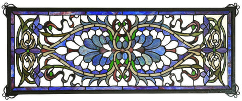 78104 Antoinette Transom Stained Glass Window by Meyda Lighting | 29x11""