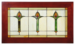 97961 Arts & Crafts Bud Stained Glass Window by Meyda Lighting | 24x14""