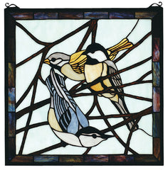 68387 Backyard Friends Stained Glass Window by Meyda Lighting | 18 inches