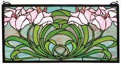 79950 Calla Lily Stained Glass Window by Meyda Lighting | 22x11 inches