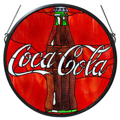 106226 Coca-Cola Button Stained Glass Window by Meyda Lighting | 21 inches