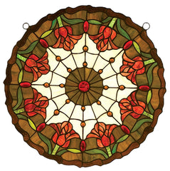 14757 Colonial Tulip Stained Glass Window by Meyda Lighting | 18 inches