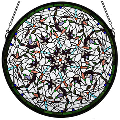 98951 Dragonfly Swirl Stained Glass Window by Meyda Lighting | 22 inches