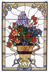 51721 Floral Arrangement Stained Glass Window by Meyda Lighting | 24x36""