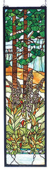 74037 Foxgloves Stained Glass Window by Meyda Lighting | 12x44 inches