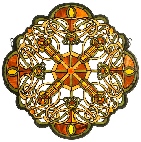 71235 Galway Medallion Stained Glass Window by Meyda Lighting | 25 inches