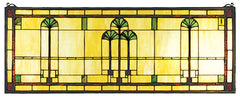 50825 Ginkgo Stained Glass Window by Meyda Lighting | 35x13 inches