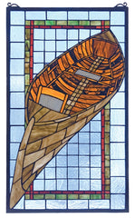 21439 Guideboat Stained Glass Window by Meyda Lighting | 15x25 inches