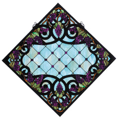 67143 Jeweled Grape Ebony Diamond Stained Glass by Meyda Lighting | 25.5""