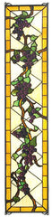 79792 Jeweled Grape Stained Glass Window by Meyda Lighting | 8x36 inches