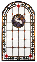 17367 Lamb of God Arch Stained Glass Window by Meyda Lighting | 23x40 inches