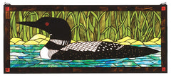 14625 Loon Colorful Stained Glass Window by Meyda Lighting | 40x17 inches