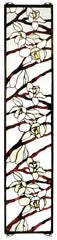47887 Magnolia Branches Stained Glass Window by Meyda Lighting | 9x42 inches