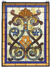 77999 Mandolin Stained Glass Window by Meyda Lighting | 20x27 inches