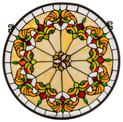 127115 Middleton Beige Stained Glass Window by Meyda Lighting | 19x18 inches