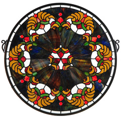 127106 Middleton Burgundy Stained Glass Window by Meyda Lighting | 19x18""