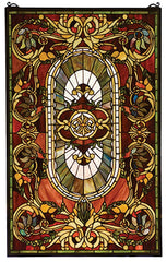 78103 Regal Splendor Stained Glass Window by Meyda Lighting | 20x32 inches