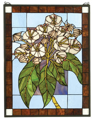 31268 Revival Mountain Laurel Stained Glass by Meyda Lighting | 20x26 inches