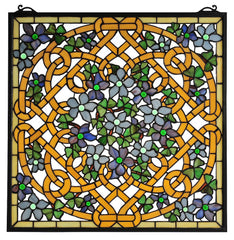 99027 Shamrock Garden Stained Glass Window by Meyda Lighting | 22 inches