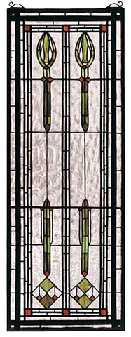 68020 Spear of Hastings Stained Glass Window by Meyda Lighting | 11x30""