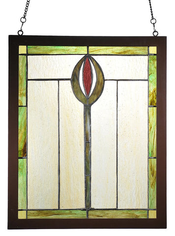 98100 Spear Stained Glass Window by Meyda Lighting | 14x17 inches
