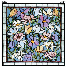 66278 Sugar Magnolia Stained Glass Window by Meyda Lighting | 22 inches