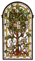 99049 Tree of Life Arch Stained Glass Window by Meyda Lighting | 15x29""