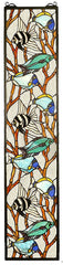 50840 Tropical Fish Stained Glass Window by Meyda Lighting | 9x42 inches