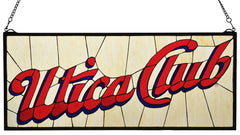 113374 Utica Club Stained Glass Window by Meyda Lighting | 31x13 inches