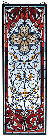 73276 Versailles Stained Glass Window by Meyda Lighting | 11x32 inches
