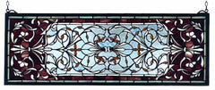 98059 Versailles Transom Stained Glass by Meyda Lighting | 28x10 inches