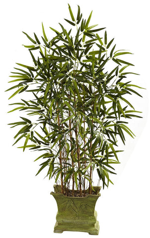 5419 Bamboo Artificial Plant with Planter by Nearly Natural | 45 inches