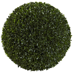 6808 Boxwood Indoor Outdoor Silk Ball Topiary Plant by Nearly Natural | 14""